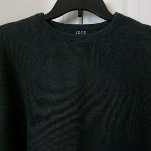Izod Black Cotton Knit Sweater
